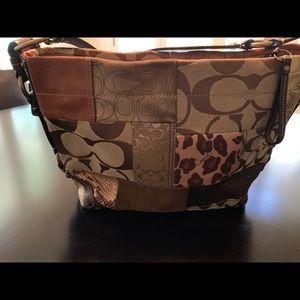 Medium patchwork Coach purse